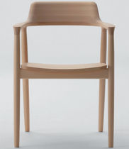 contemporary wooden chair HIROSHIMA Maruni