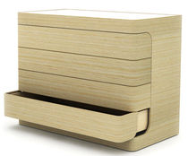 contemporary wooden chest of drawers LOOP by Nazanin Kamali case