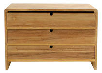 contemporary wooden chest of drawers BLOCK Pavilion rattan