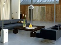 contemporary wooden coffee table (with bio ethanol burner) INDOOR: 825 by Hélène Clemmer-Heidsieck Vulcania