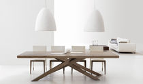 contemporary wooden dining table ES·SENCIAL Planum, Inc.