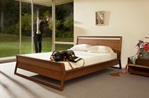 contemporary wooden double bed WOODROW BLU DOT
