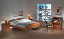 contemporary wooden double bed 1335 dyrlund