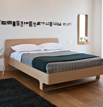 contemporary wooden double bed LOOP case