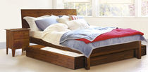 contemporary wooden double bed SUNDAY WARREN EVANS