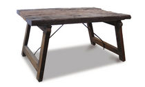 contemporary wooden garden table ALBERTO Costantini Design