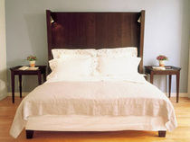 contemporary wooden headboard for double bed TUDOR PHILIPPE HUREL
