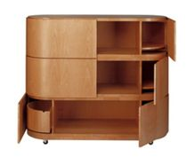 contemporary wooden lacquered sideboard ALDO by Miguel Angel Ciganda Martinez Otero Colecci&oacute;n