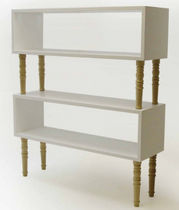 contemporary wooden low shelf  Duffy London