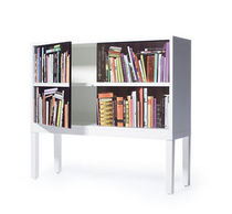 contemporary wooden low shelf BOOKSHELF SIDEBOARD by Front SKITSCH