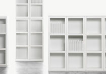 contemporary wooden modular bookcase LIBRO voice