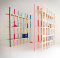 contemporary wooden modular shelf LSS by Max Gumpp &amp; Hannes Gumpp ABR PRODUCCION