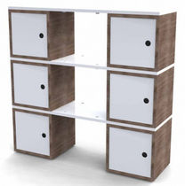 contemporary wooden modular shelf BOX AND PLANK Duffy London