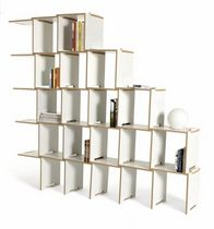 contemporary wooden modular shelf L by Juan Pablo Quintero  Arre Agency