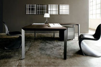 contemporary wooden office desk with metal structure DIAMOND Sintetica Industries