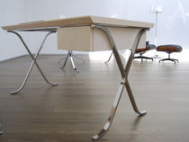 contemporary wooden office desk with metal structure BARCELLONA SABINOAPRILE/Interior Design