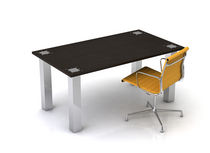 contemporary wooden office desk with metal structure YORK Swanky Design - Premium Contemporary Furniture