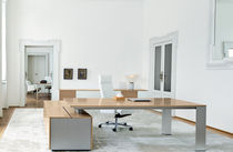 contemporary wooden office desk with metal structure ONO Frezza