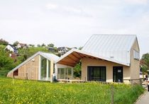 contemporary wooden prefab house BRUHIN Haring Engineering Ltd