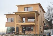 contemporary wooden prefab house HÄNGGI, DORNACH Haring Engineering Ltd