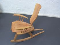 contemporary wooden rocking armchair  Peter Hook