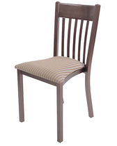 contemporary wooden stacking chair METALLIC ISA International