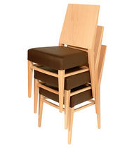 contemporary wooden stacking chair TIMBERLY ISA International