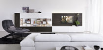 contemporary wooden TV wall unit CUBE4 by Enrico Cesana Olivieri