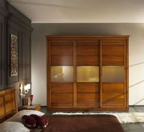 contemporary wooden wardrobe with sliding doors FLY PLATINO : F261/3TO ARTE BROTTO