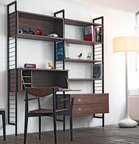 contemporary writing desk with shelf CASEFILE by Matthew Hilton case