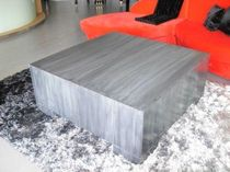 contemporary zinc coffee table CUBICUM Dezinc