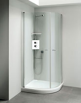 corner shower cabin LUNA INOX  calibe