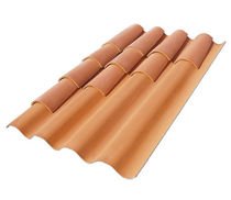 corrugated colored fiber cement roofing panel TEGOLIT PLUS 235 EDILFIBRO SPA