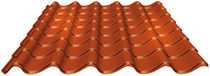 corrugated steel roofing sheet (roof tile imitation) LPA Lindab