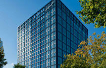 curtain wall insulation glass panel DEUTSCHE BORSE Josef Gartner