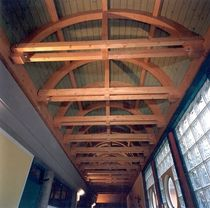 curved glulam timber beam  HABITAT LEGNO