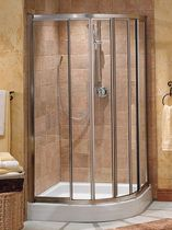 curved sliding shower screen CONTOURA MAAX bathroom