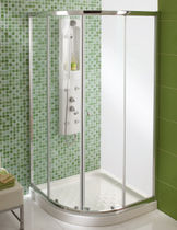 curved sliding shower screen STEP sanitana