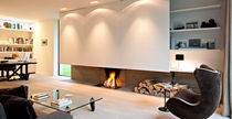 custom contemporary fireplace (wood-burning open hearth) LINE  Waco & C°
