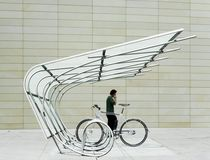cycle stand with shelter for public spaces SPOKES  Duo-Gard