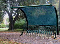 cycle stand with shelter for public spaces CYCLOBIK BLUE ARTOTEC