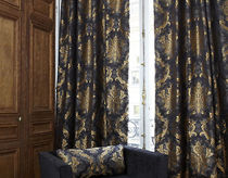 damask fabric for curtain TROVATORE VEREL DE BELVAL