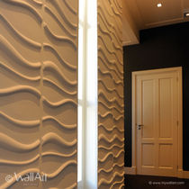 decorative eco-friendly wall panel in recycled cellulose fiber WAVES WALLART