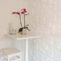 decorative eco-friendly wall panel in recycled cellulose fiber SQUARES WALLART