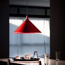 design aluminium pendant lamp CONO cod.1861 by Elio Martinelli , 1980 Martinelli Luce Spa