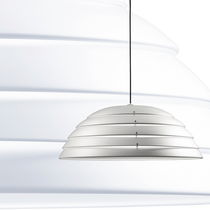 design aluminium pendant lamp CUPOLONE cod.1889 by Elio Martinelli , 1990 Martinelli Luce Spa