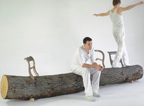 design bench in reclaimed wood TREE-TRUNK by Jurgen Bey Droog