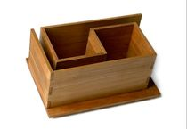 design CD/DVD shelf in certified solid wood (FSC-certified) MAZE MINI Woodloops