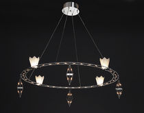 design chandelier (halogen) CROWN SILVIA by Bernhard Bartel Ruhrform