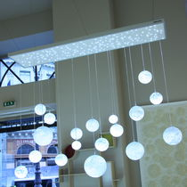design chandelier (blown glass, handmade) LUSTRE LUNES TALENTS Semeur d'étoiles
